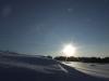 Widok zimy na Kaszubach