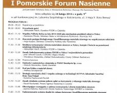 Zaproszenie na I Pomorskie Forum Nasienne